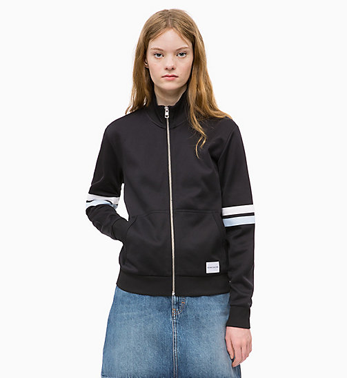 CALVIN KLEIN JEANS Stripe Tracksuit Jacket - CK BLACK - CALVIN KLEIN JEANS IN THE THICK OF IT FOR HER - main image