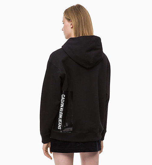 CALVIN KLEIN JEANS Hoodie met multi-logo - CK BLACK / CK BLACK LOGO - CALVIN KLEIN JEANS IN THE THICK OF IT FOR HER - detail image 1