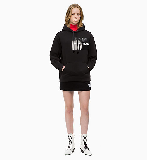 CALVIN KLEIN JEANS Multi Logo Hoodie - CK BLACK / CK BLACK LOGO - CALVIN KLEIN JEANS IN THE THICK OF IT FOR HER - detail image 1