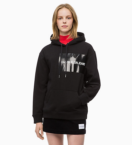 CALVIN KLEIN JEANS Hoodie met multi-logo - CK BLACK / CK BLACK LOGO - CALVIN KLEIN JEANS IN THE THICK OF IT FOR HER - main image