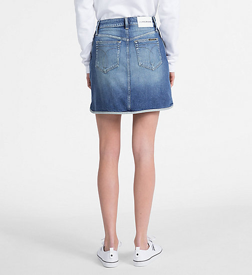 CALVIN KLEIN JEANS High Rise Denim Mini Skirt - SYRACUSE BLUE - CALVIN KLEIN JEANS SKIRTS - detail image 1