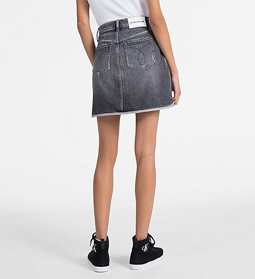 CALVIN KLEIN JEANS High Rise Denim Mini Skirt - ALCAMO BLACK - CALVIN KLEIN JEANS SKIRTS - detail image 1