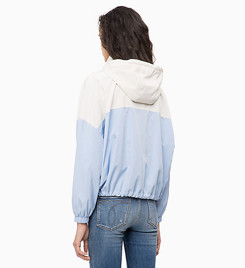 CALVIN KLEIN JEANS Hooded Zip-Up Jacket - CHAMBRAY BLUE / EGRET - CALVIN KLEIN JEANS CLOTHES - detail image 1