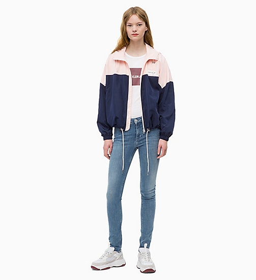 CALVIN KLEIN JEANS Hooded Zip-Up Jacket - PEACOAT / CHINTZ ROSE - CALVIN KLEIN JEANS WOMEN - detail image 1