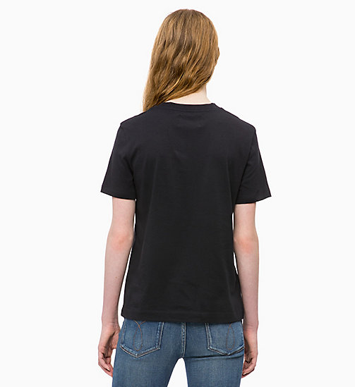 CALVIN KLEIN JEANS Boxy  T-shirt - CK BLACK - CALVIN KLEIN JEANS NEW IN - detail image 1