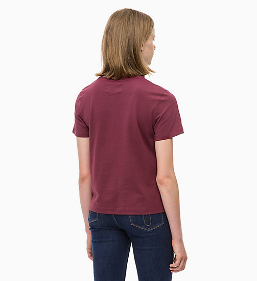 CALVIN KLEIN JEANS Boxy  T-shirt - TAWNY PORT - CALVIN KLEIN JEANS NEW IN - detail image 1