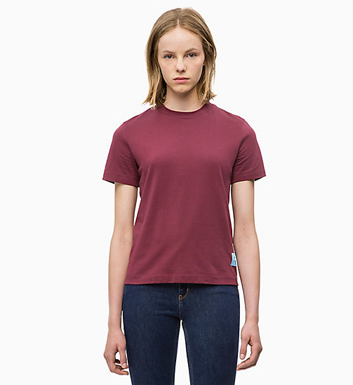 CALVIN KLEIN JEANS Boxy  T-shirt - TAWNY PORT - CALVIN KLEIN JEANS NEW IN - main image