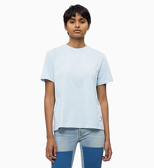 CALVIN KLEIN JEANS Boxy  T-shirt - CHAMBRAY BLUE - CALVIN KLEIN JEANS NEW IN - main image