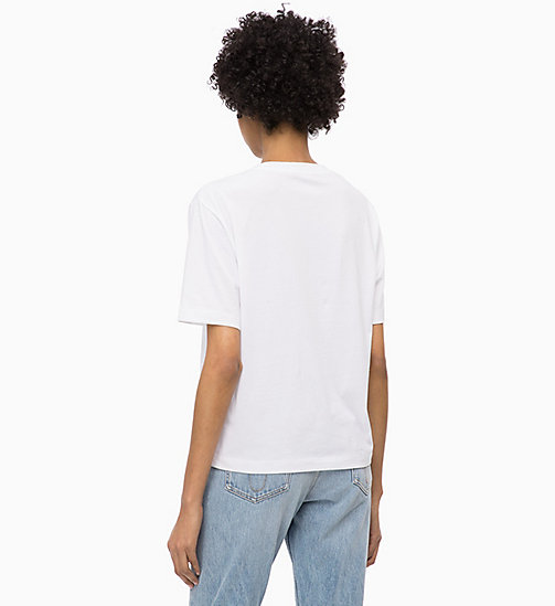 CALVIN KLEIN JEANS Boxy Floral Logo T-shirt - BRIGHT WHITE - CALVIN KLEIN JEANS NEW IN - detail image 1