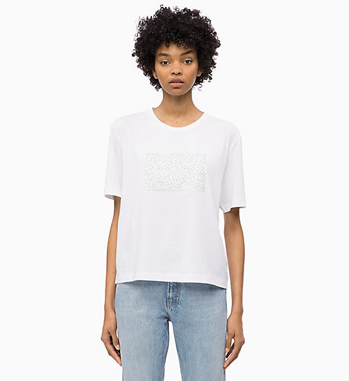 CALVIN KLEIN JEANS Boxy Floral Logo T-shirt - BRIGHT WHITE - CALVIN KLEIN JEANS NEW IN - main image