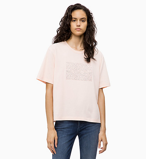 CALVIN KLEIN JEANS Boxy Floral Logo T-shirt - CHINTZ ROSE - CALVIN KLEIN JEANS NEW IN - main image
