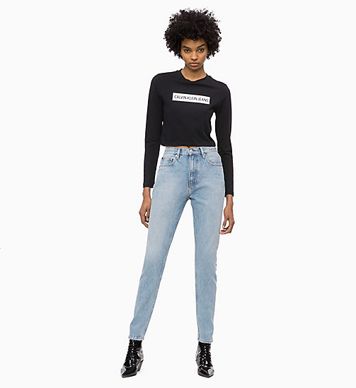 CALVIN KLEIN JEANS Cropped Logo T-shirt - CK BLACK / BRIGHT WHITE - CALVIN KLEIN JEANS The New Off-Duty - detail image 1