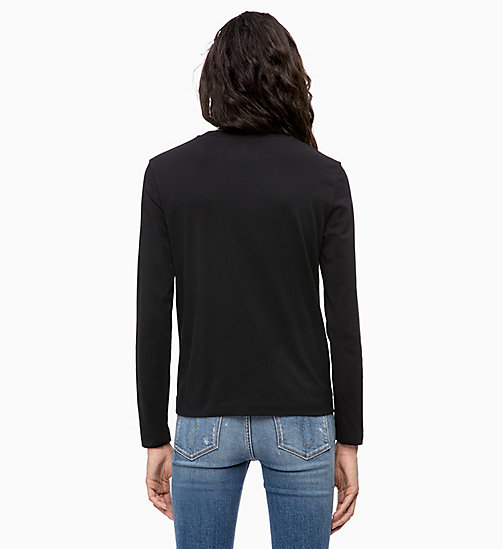 CALVIN KLEIN JEANS Long Sleeve T-shirt - CK BLACK - CALVIN KLEIN JEANS NEW IN - detail image 1
