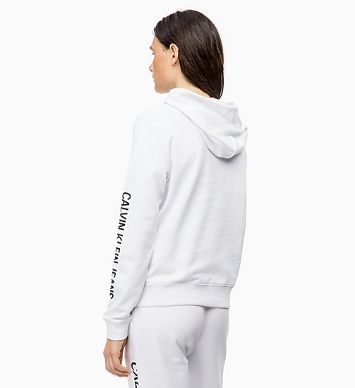 CALVIN KLEIN JEANS Logo Hoodie - BRIGHT WHITE - CALVIN KLEIN JEANS IN THE THICK OF IT FOR HER - detail image 1
