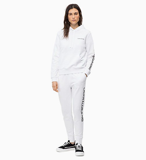 CALVIN KLEIN JEANS Felpa con cappuccio e logo - BRIGHT WHITE - CALVIN KLEIN JEANS IN THE THICK OF IT FOR HER - dettaglio immagine 1