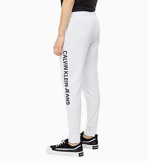 CALVIN KLEIN JEANS Pantalon de jogging avec logo - BRIGHT WHITE - CALVIN KLEIN JEANS IN THE THICK OF IT FOR HER - image détaillée 1