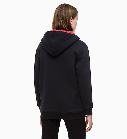 CALVIN KLEIN JEANS Reversible Sherpa Fleece Hoodie - TOMATO - CALVIN KLEIN JEANS NEW IN - detail image 1