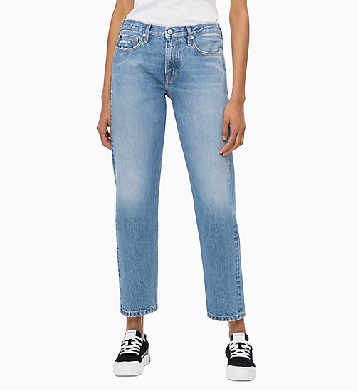 CALVIN KLEIN JEANS CKJ 061 Mid Rise Boy Jeans - AUCKLAND BLUE - CALVIN KLEIN JEANS NEW ICONS - main image