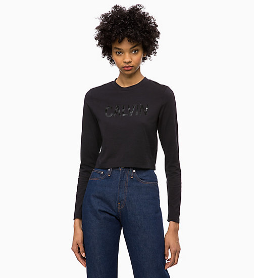 CALVIN KLEIN JEANS Cropped Logo T-shirt - CK BLACK - CALVIN KLEIN JEANS The New Off-Duty - main image