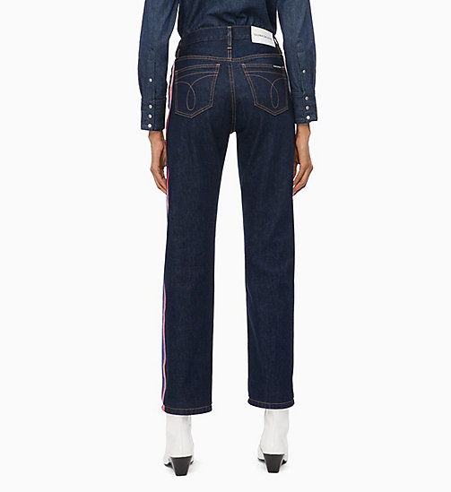 CALVIN KLEIN JEANS CKJ 030 High Rise Straight Side Stripe Jeans - PLASTIC RINSE - CALVIN KLEIN JEANS NEW ICONS - detail image 1