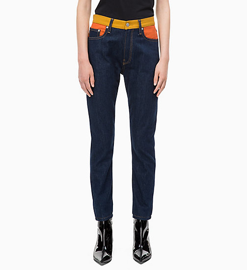 CALVIN KLEIN JEANS CKJ 020 High Rise Slim Blocked Jeans - BANJO BLOCKED - CALVIN KLEIN JEANS FALL DREAMS - main image