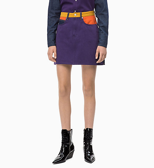 CALVIN KLEIN JEANS High Rise Denim Mini Skirt - UKELELY PATCH - CALVIN KLEIN JEANS FALL DREAMS - main image
