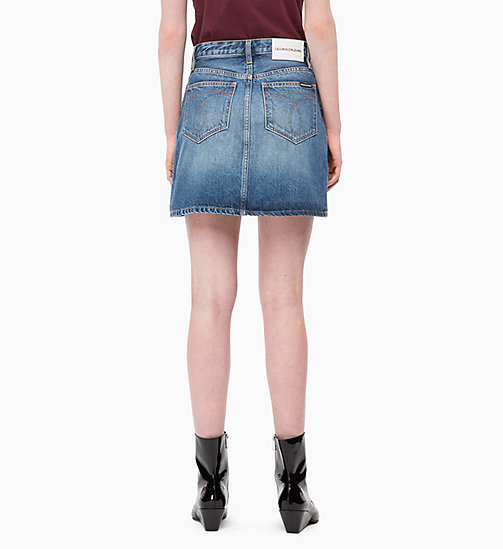 CALVIN KLEIN JEANS High Rise Denim Mini Skirt - KEELING BLUE - CALVIN KLEIN JEANS DENIM SHOP - detail image 1