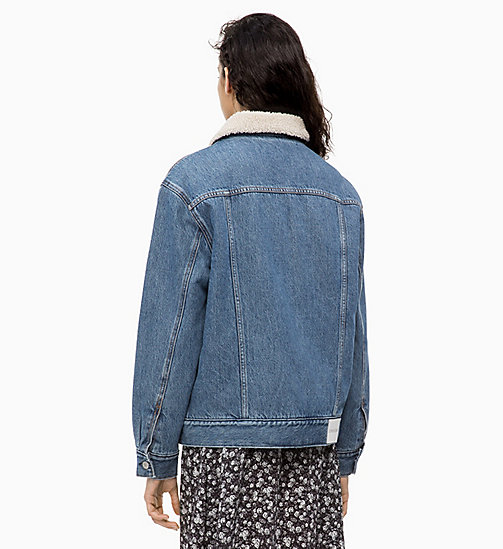 CALVIN KLEIN JEANS Sherpa Denim Trucker Jacket - NEPAL BLUE - CALVIN KLEIN JEANS FALL DREAMS - detail image 1