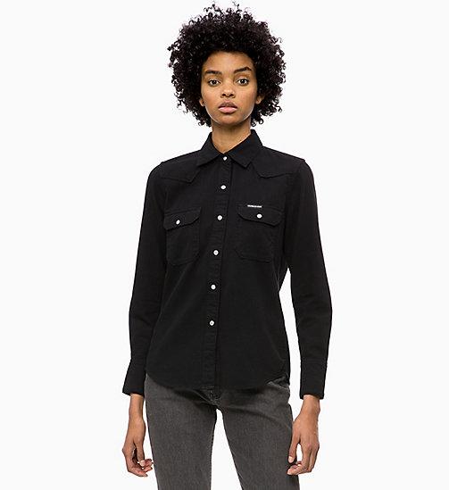 -50% CALVIN KLEIN JEANS Western Denim Shirt - BUCKAREST BLACK - CALVIN  KLEIN JEANS DENIM SHOP ... a37761ba6995