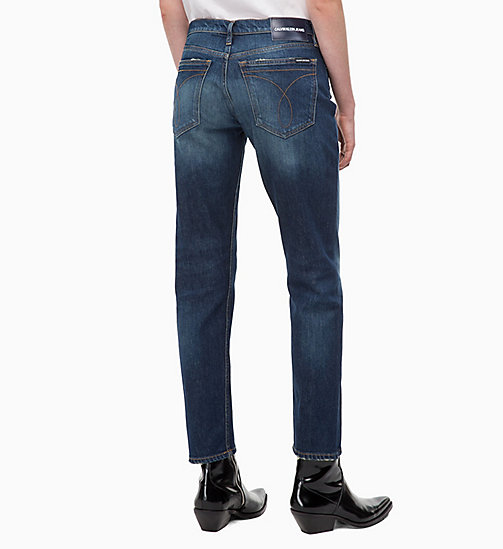 CALVIN KLEIN JEANS CKJ 061 Mid Rise Boy Jeans - LISBON DARK BLUE - CALVIN KLEIN JEANS The New Off-Duty - detail image 1