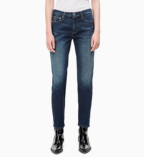 CALVIN KLEIN JEANS CKJ 061 Mid Rise Boy Jeans - LISBON DARK BLUE - CALVIN KLEIN JEANS The New Off-Duty - main image