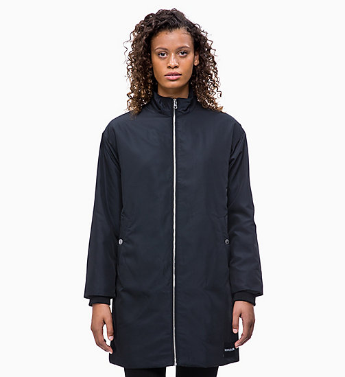 CALVIN KLEIN JEANS Padded Zip-Through Coat - CK BLACK - CALVIN KLEIN JEANS COATS - main image