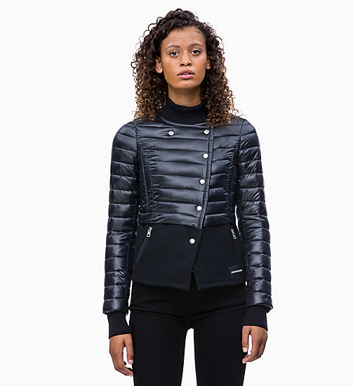 CALVIN KLEIN JEANS Wool Nylon Quilted Jacket - CK BLACK - CALVIN KLEIN JEANS CLOTHES - main image