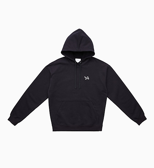 CALVIN KLEIN JEANS Icon Embroidered Hoodie - CK BLACK - CALVIN KLEIN JEANS TOPS - main image