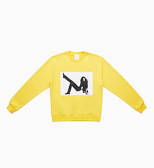 CALVIN KLEIN JEANS Felpa stampata Icon - LEMON YELLOW - CALVIN KLEIN JEANS VIEW ALL - immagine principale