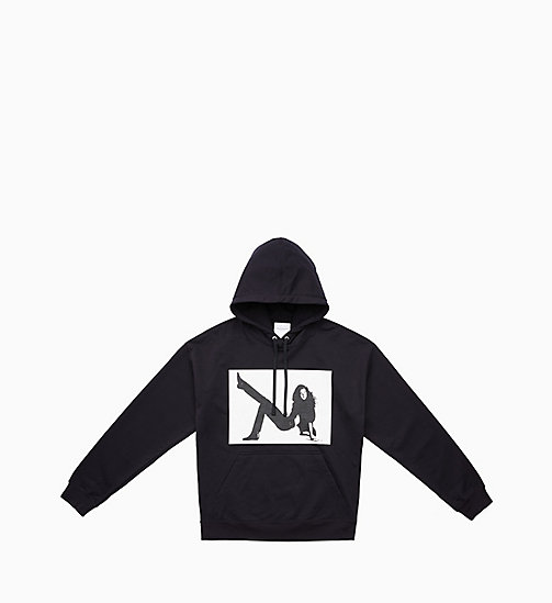 CALVIN KLEIN JEANS Icon Printed Hoodie - CK BLACK - CALVIN KLEIN JEANS VIEW ALL - main image