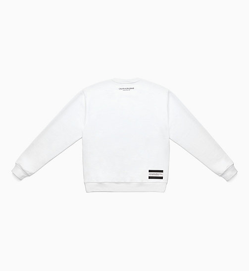 CALVIN KLEIN JEANS Felpa con patch Est. 1978 - BRIGHT WHITE/ CK BLACK - CALVIN KLEIN JEANS VIEW ALL - dettaglio immagine 1