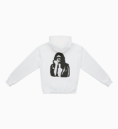 CALVIN KLEIN JEANS Graphic Hoodie - BRIGHT WHITE / FIST LADY - CALVIN KLEIN JEANS TOPS - detail image 1