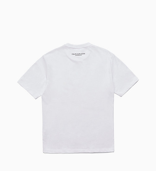 CALVIN KLEIN JEANS Icon Printed T-shirt - BRIGHT WHITE / BRIGHT WHITE - CALVIN KLEIN JEANS TOPS - detail image 1