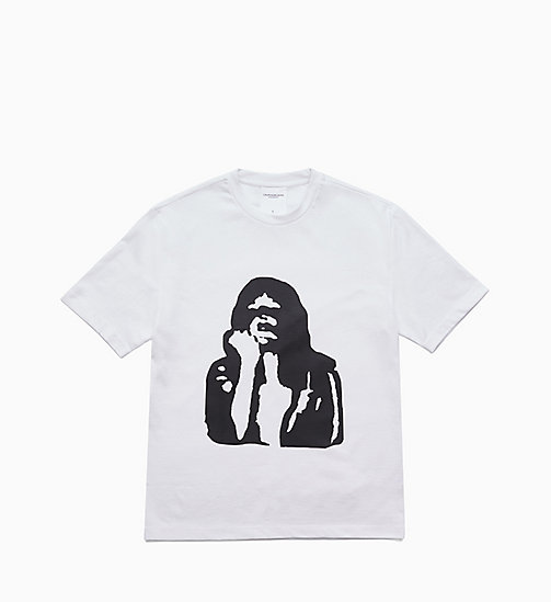 CALVIN KLEIN JEANS Printed T-shirt - BRIGHT WHITE / FIST LADY - CALVIN KLEIN JEANS TOPS - main image