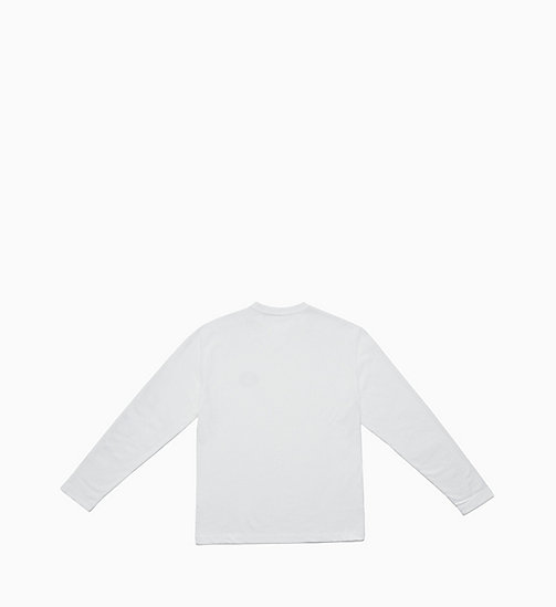 CALVIN KLEIN JEANS Long Sleeve T-shirt - BRIGHT WHITE / EAGLE - CALVIN KLEIN JEANS TOPS - detail image 1