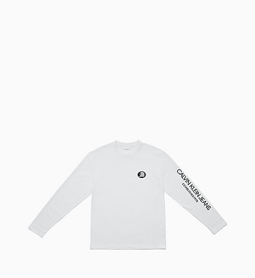CALVIN KLEIN JEANS Long Sleeve T-shirt - BRIGHT WHITE / EAGLE - CALVIN KLEIN JEANS TOPS - main image