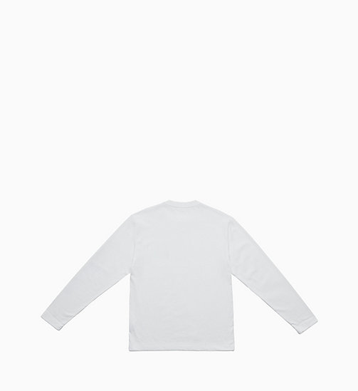 CALVIN KLEIN JEANS Long Sleeve T-shirt - BRIGHT WHITE / FIST LADY - CALVIN KLEIN JEANS TOPS - detail image 1