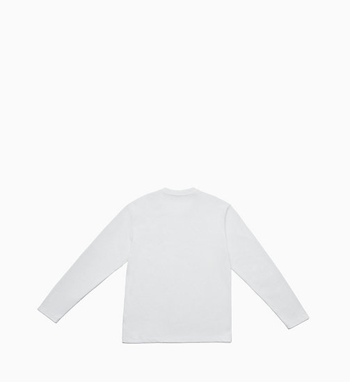 CALVIN KLEIN JEANS Long Sleeve T-shirt - BRIGHT WHITE / OK - CALVIN KLEIN JEANS TOPS - detail image 1
