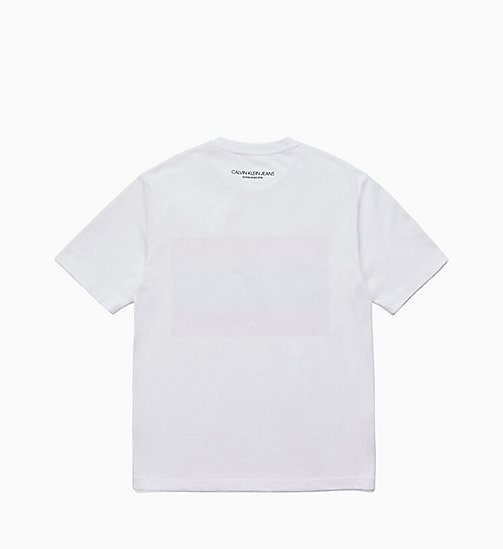 CALVIN KLEIN JEANS Est. 1978 Patch T-shirt - BRIGHT WHITE / TOMATO - CALVIN KLEIN JEANS TOPS - detail image 1