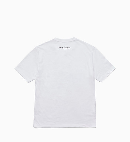 CALVIN KLEIN JEANS Est. 1978 Patch T-shirt - BRIGHT WHITE / CK BLACK - CALVIN KLEIN JEANS TOPS - detail image 1