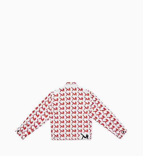 CALVIN KLEIN JEANS Icon Trucker Jacket - AOP ICON RED - CALVIN KLEIN JEANS VIEW ALL - detail image 1