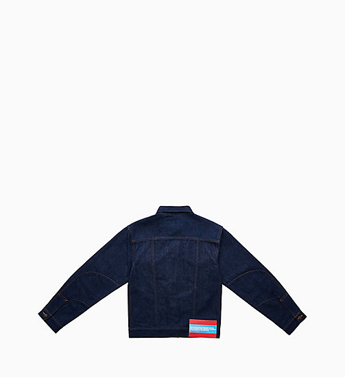 CALVIN KLEIN JEANS Denim Trucker Jacket - PANEL RINSE INDIGO - CALVIN KLEIN JEANS VIEW ALL - detail image 1