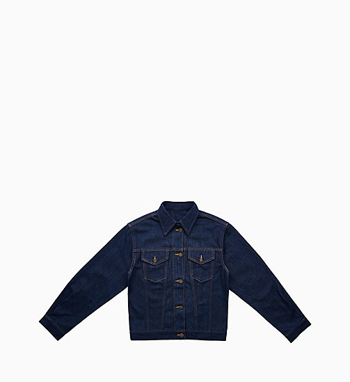 CALVIN KLEIN JEANS Denim Trucker Jacket - PANEL RINSE INDIGO - CALVIN KLEIN JEANS VIEW ALL - main image