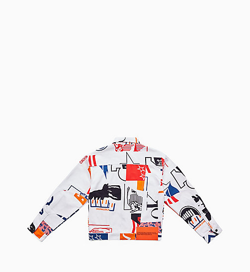 CALVIN KLEIN JEANS Printed Denim Trucker Jacket - MODERNIST WHITE BASE - CALVIN KLEIN JEANS JACKETS - detail image 1